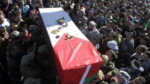 Funeral for Palestinians after a decade