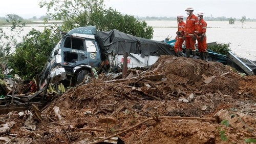 Death toll in Myanmar landslide rises as rescue efforts continue