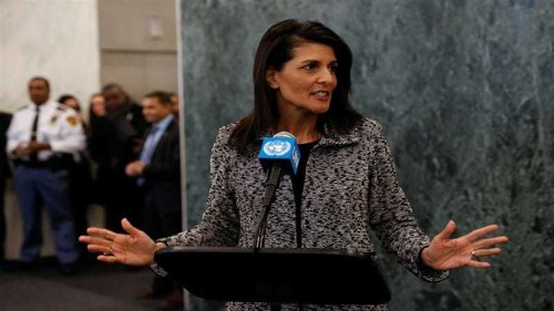 US envoy Nikki Haley at UN: 'We're taking names'