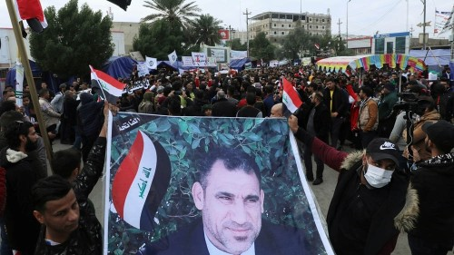 Iraqis rally for slain activist as Baghdad summons Western envoys