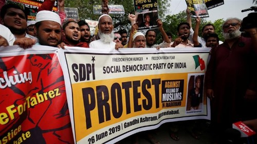 Protests in Indian cities after Muslim man beaten to death