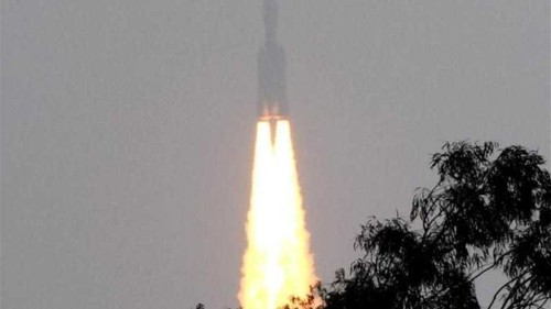India's biggest space rocket lifts off