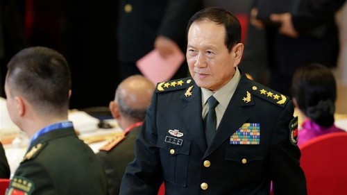 Defence minister says 'no force' can stop China reunification