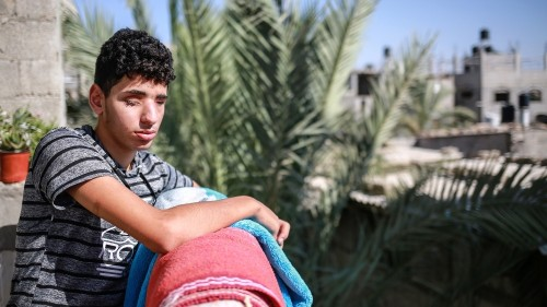 Gaza's wounded recall last year's deadly May 14 protests