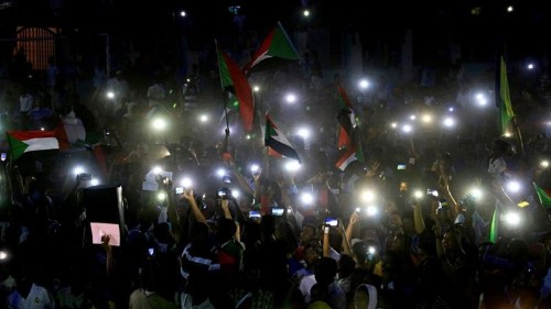 Sudanese stage night protests following killing of a civilian