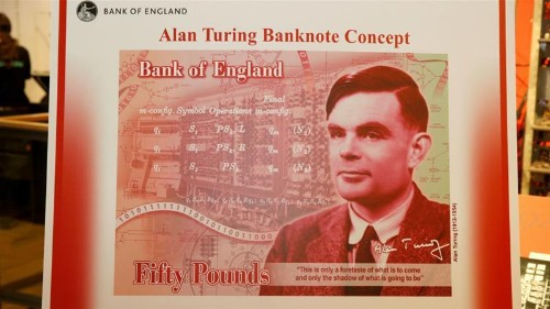 Alan Turing, mathematician and LGBT rights icon, features on £50
