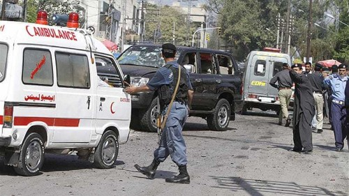 Suicide bomber strikes in Pakistan's Peshawar