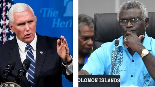 Pence rebuffs Solomon Islands PM after nation cuts Taiwan ties