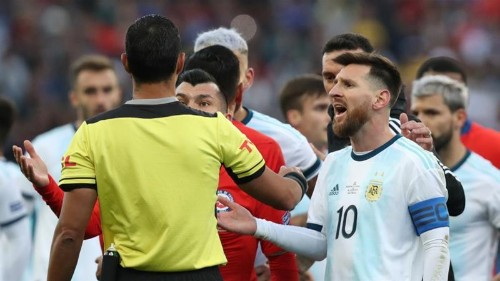 Messi banned from international football for three months