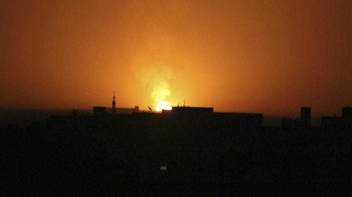 Syrian capital blacked out after blasts