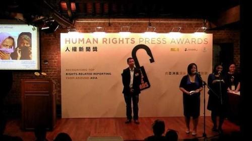 AJ Shorts wins human rights press award in Hong Kong