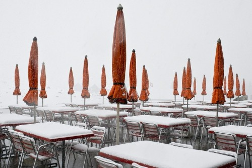 Snow blankets parts of Europe
