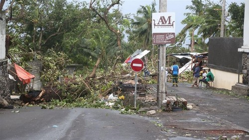 Tropical Cyclone Kenneth smashes into the Comoros Islands