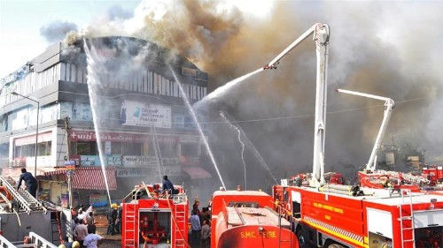 India: Fire in tutoring centre kills at least 17 students