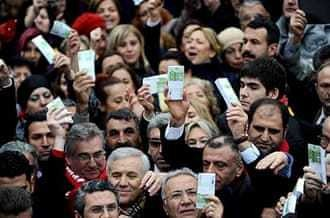 Turkish opposition holds protest rallies
