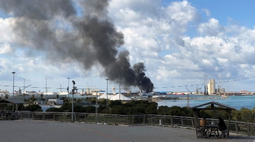 Libya's GNA suspending ceasefire talks after Tripoli port attack