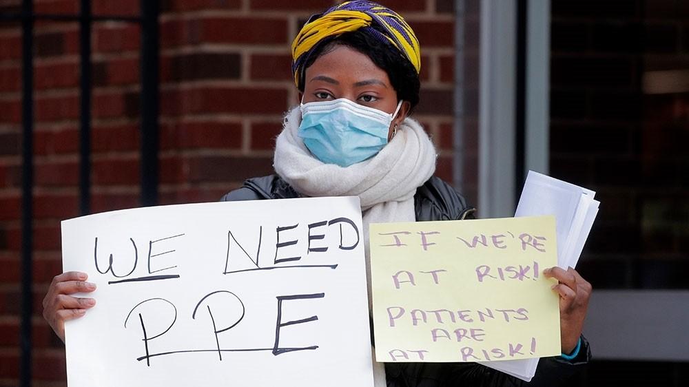 US doctors, nurses on coronavirus front line beg for critical PPE