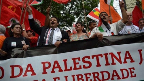 From Brazil to Tunisia, Palestinians call for their revolution