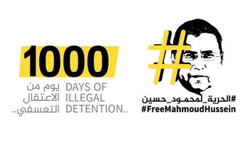 Al Jazeera's Mahmoud Hussein spends 1,000 days in Egyptian prison