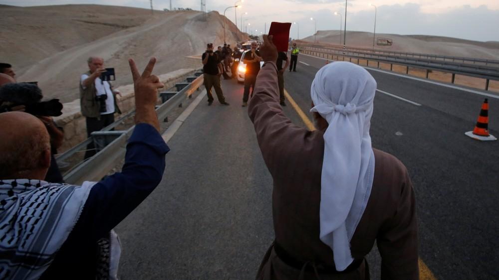 Israeli forces tear down protest camp near Khan al-Ahmar
