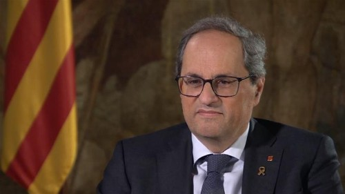 Catalan leader Quim Torra: 'Independence of Catalonia will come'