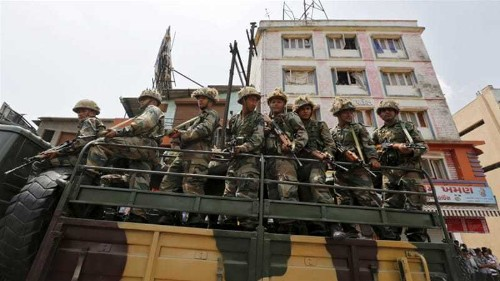 Indian army deployed to riot-hit areas of Gujarat