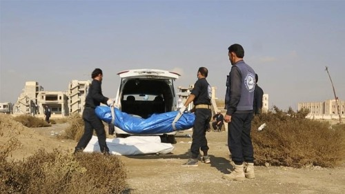 Syria: Hundreds of bodies exhumed from mass grave in Raqqa