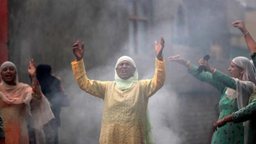 How a red dot symbolised Kashmiri resistance against India's move