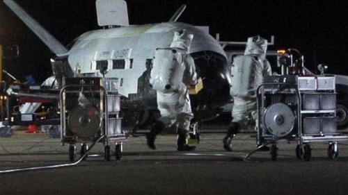 US 'spy plane' lands after 22-month mission