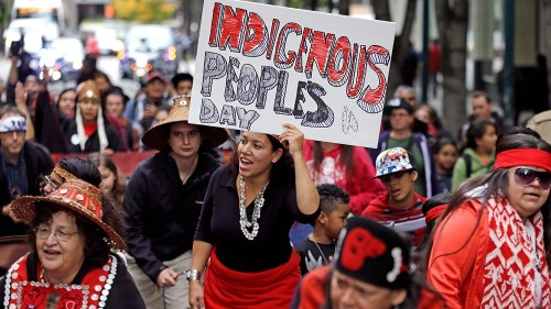 Which US states are celebrating Indigenous Peoples' Day?