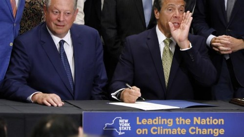 NY governor signs into law most ambitious climate plan in the US