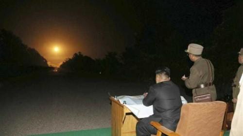 North Korea fires missiles into sea