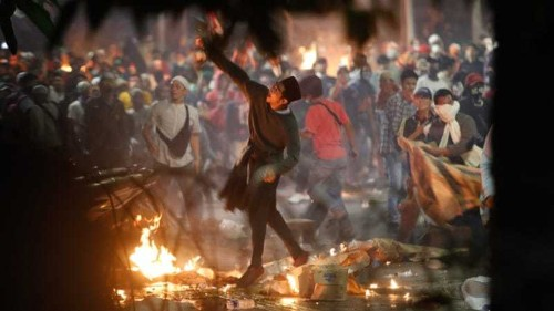 Jakarta protests: Fireworks, tear gas mark Jokowi's re-election