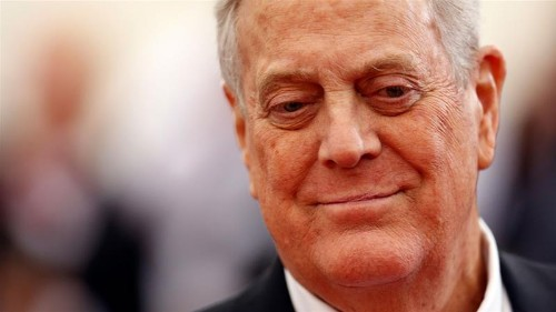 US billionaire David Koch, conservative donor, dies at age 79