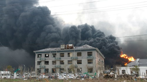 Blast at Chinese chemical plant kills 47, injures 640