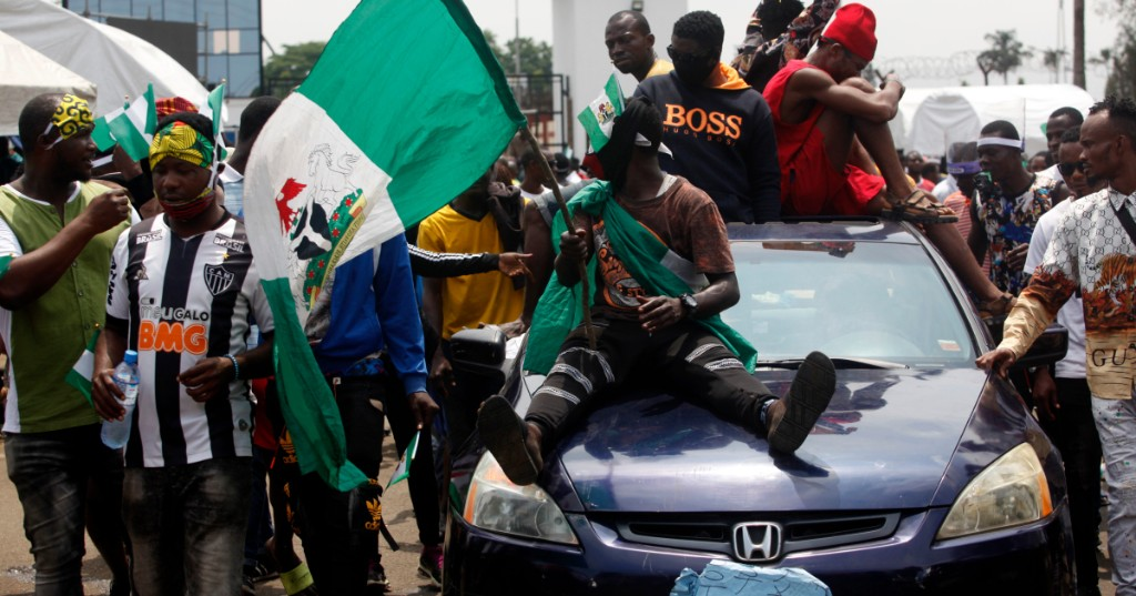 In Pictures: #EndSARS protests continue in Nigeria