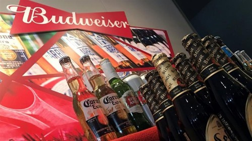 Strong showing by Budweiser stock in Hong Kong market debut