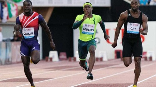 Gay pipped by Gatlin in comeback