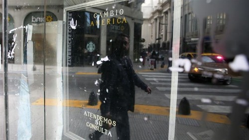 Argentine peso steadies, along with nerves