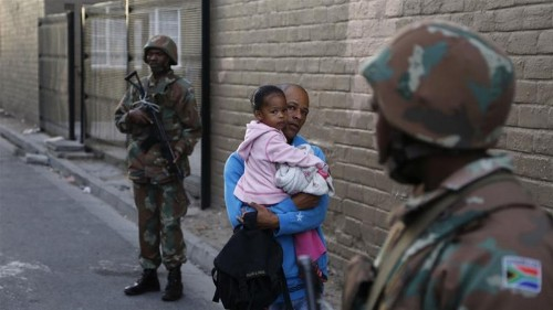 South African military deployed in Cape Town to help fight gangs