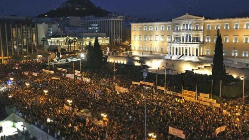 Thousands attend anti-austerity march in Greece