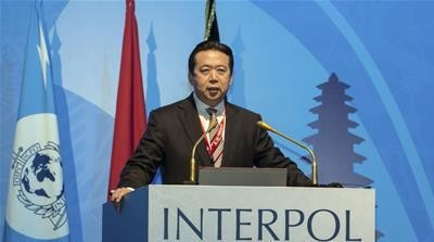 Detained ex-Interpol chief's wife seeks asylum in France