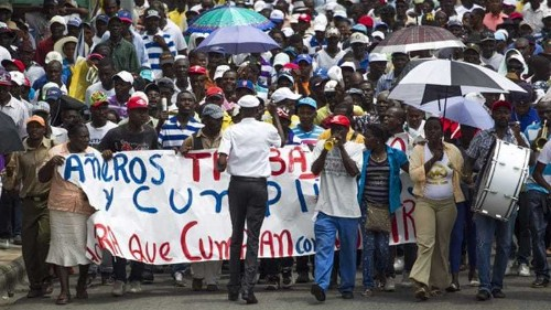 Haitians protest over Dominican Republic deportations