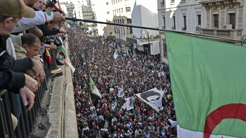 Algerians seeking old guard's exit protest upcoming poll