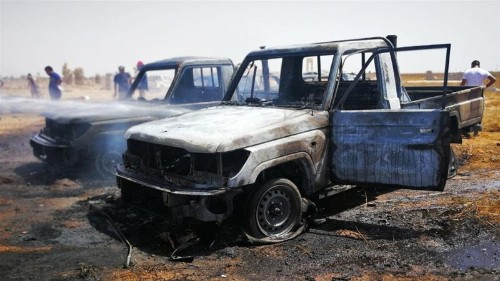 Four killed as car bombs target funeral in Libya's Benghazi