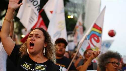 'Work until you die, or die working': Workers strike in Brazil
