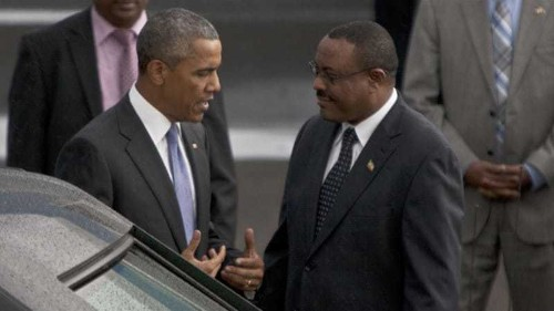 Obama arrives in Ethiopia for last leg of Africa tour