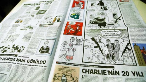 Charlie Hebdo cover printed in Turkish daily