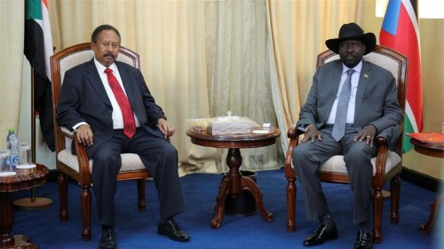 Sudan PM Hamdok arrives in Juba on first official trip