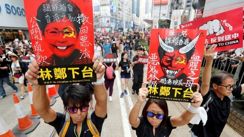 Hong Kong leader apologises for handling of extradition bill
